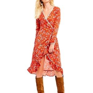 Free People Covent Garden fall floral dress